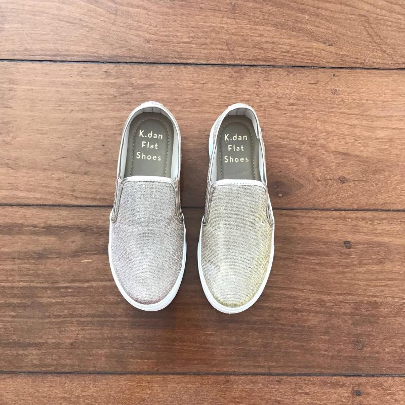 Slip On Lurex Champagne