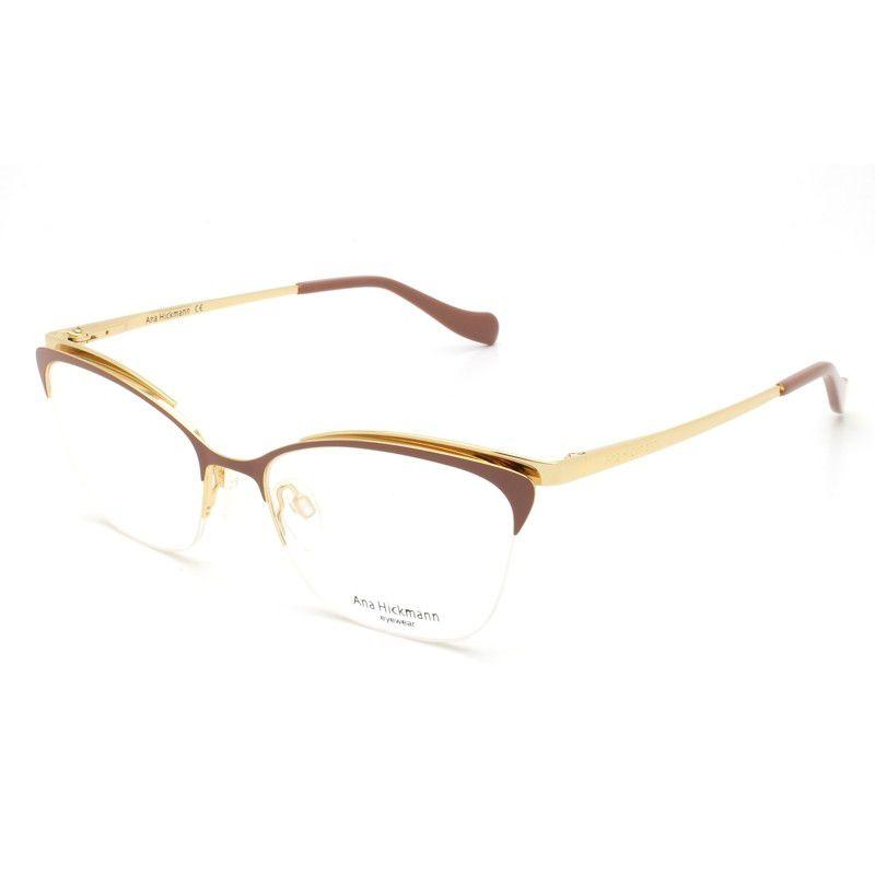 Armação Óculos de Grau Ana Hickmann Feminino AH1354 01C - Ótica Quartz b39ce7868f