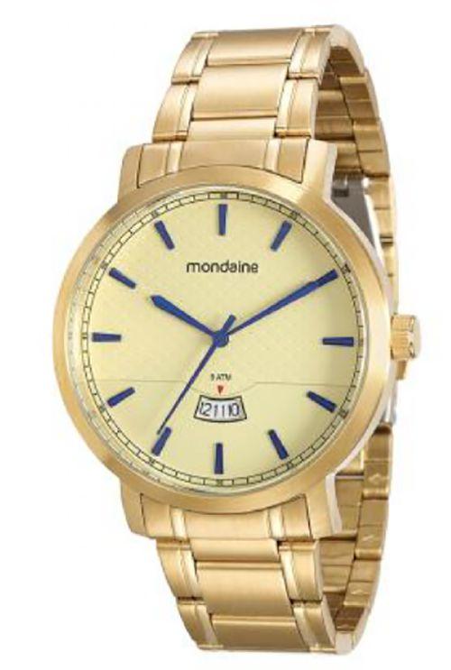 7b634f31d46 ATACADO Relógio Masculino Dourado Mondaine Analógico 94948GPMVDA1. ATACADO  Relógio Masculino ...