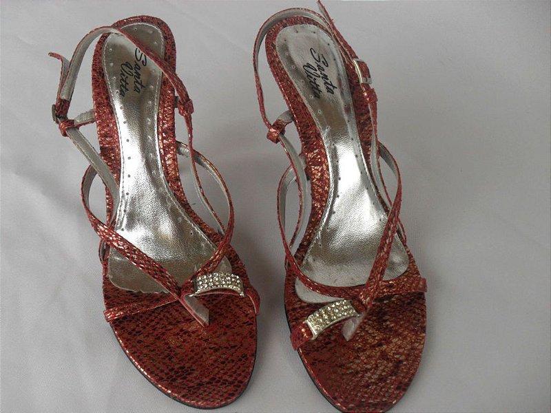 Sandália Vermelha - Semi Nova!