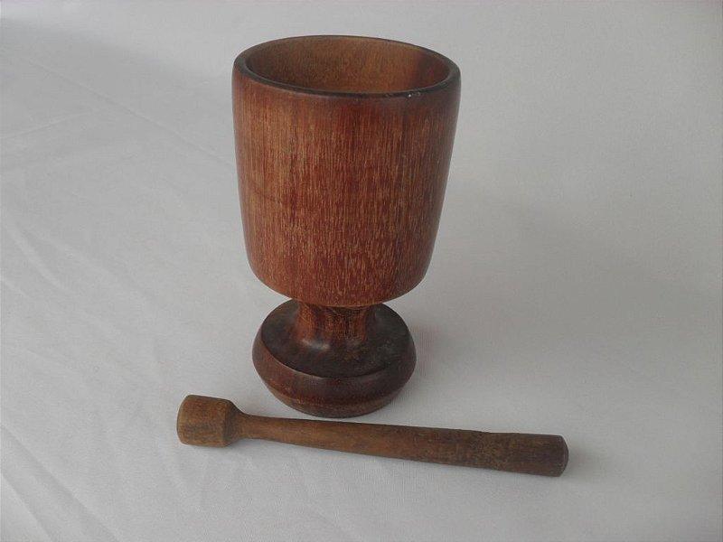 Copo para Caipirinha com Socador em Madeira - Usado!