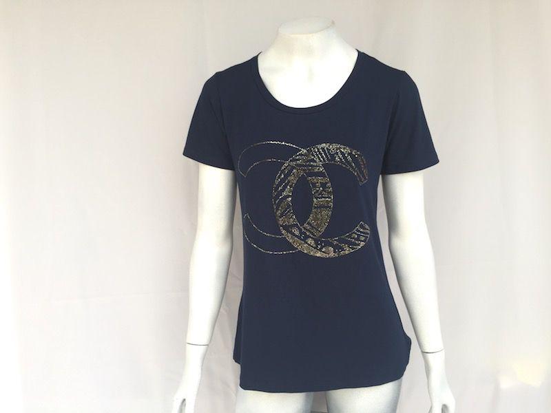 Camiseta Marinho Chanel - Nova!