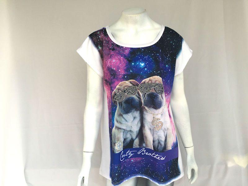 Camiseta Cachorrinhos Ricos - Nova!
