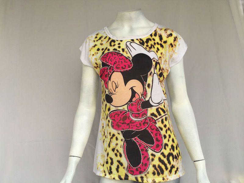 Camiseta Minnie Onça - Nova!