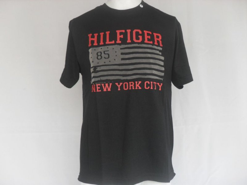 Camiseta Tommy Hilfiger 85 Preta - Nova!