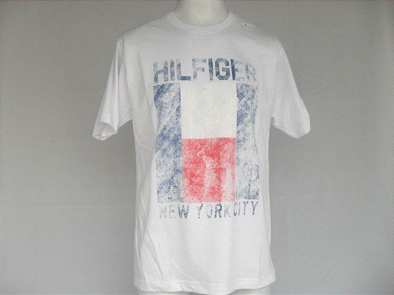 Camiseta Tommy Quadrado Branca - Nova!
