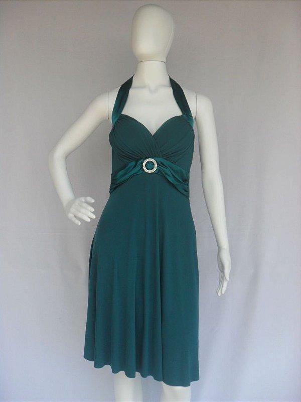 Vestido de Festa Verde - Semi Novo!