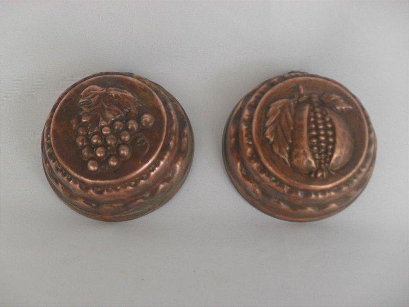 Par de Mini Cumbucas Decorativas em Cobre - Antigo!