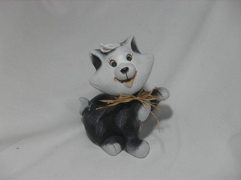 Gatinho de Porcelana Rústica - Usado!