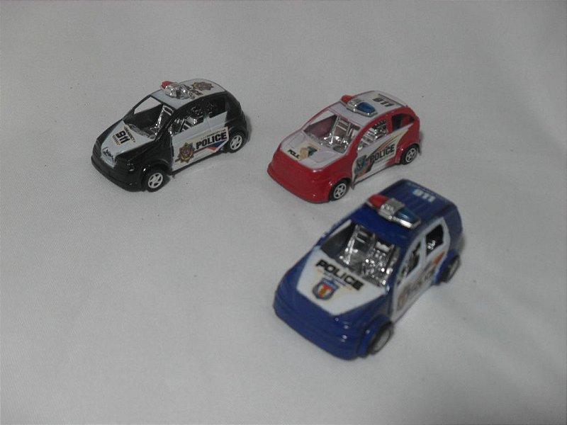 Kit 3 Carrinhos Polícia - Semi Novo!