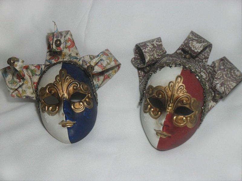 Par de Máscaras Venezianas - Antigo!