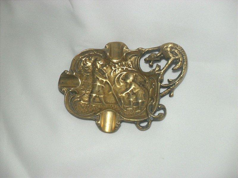 Cinzeiro Vazado em Bronze - Antigo!