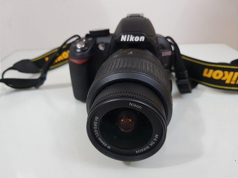 Câmera Nikon D3100 - Pouco Uso!