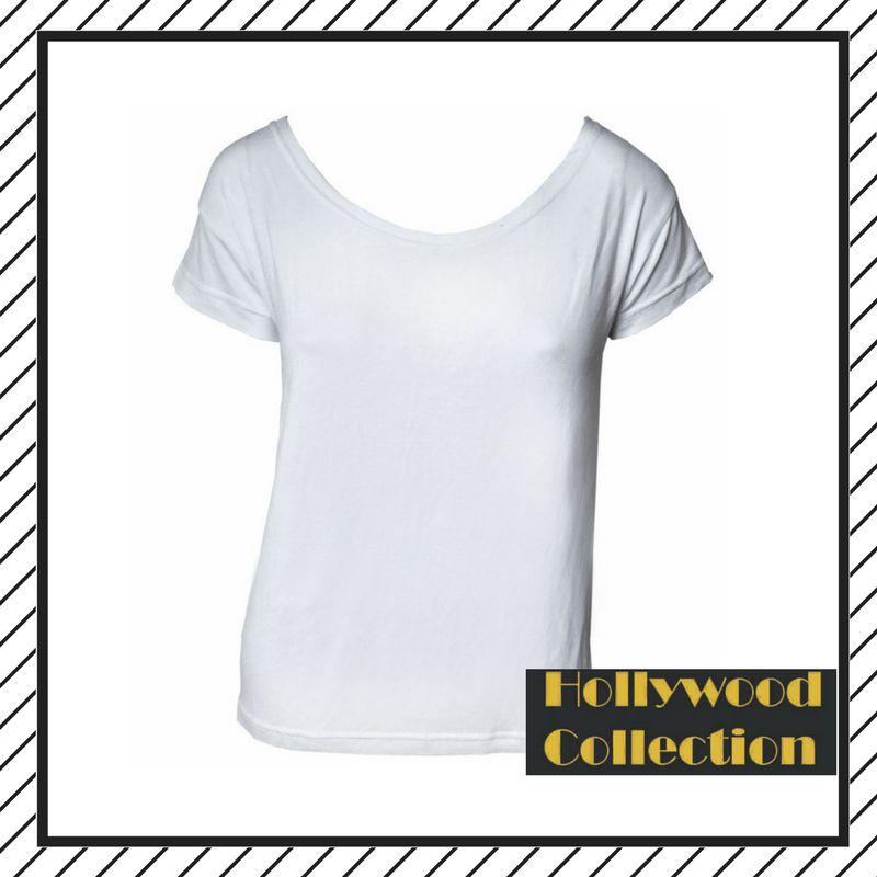 Camiseta design lisa básica branca