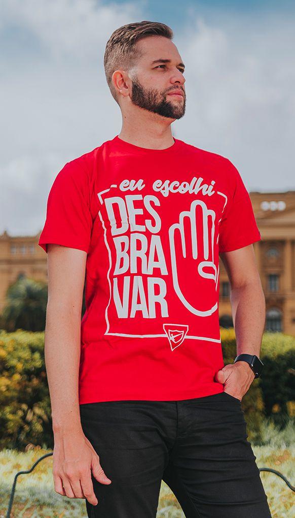 """Camiseta """"ESCOLHI DESBRAVAR"""""""