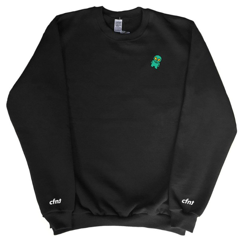 ALIEN SWEATSHIRT BLACK