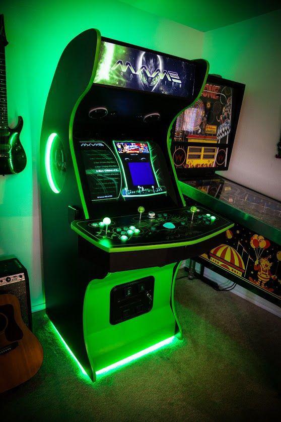Arcade Fliperama Multijogos Detalhes em LED TOP - Casa do