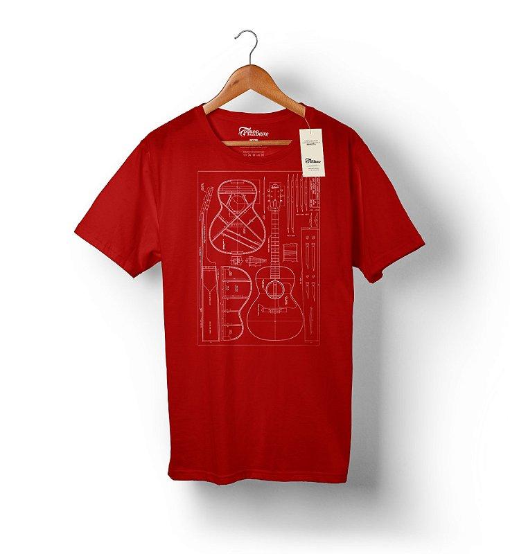 Camiseta – Violão 1 - Vermelha