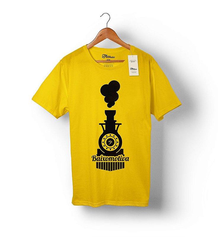 Camiseta – Baixomotiva – Amarela