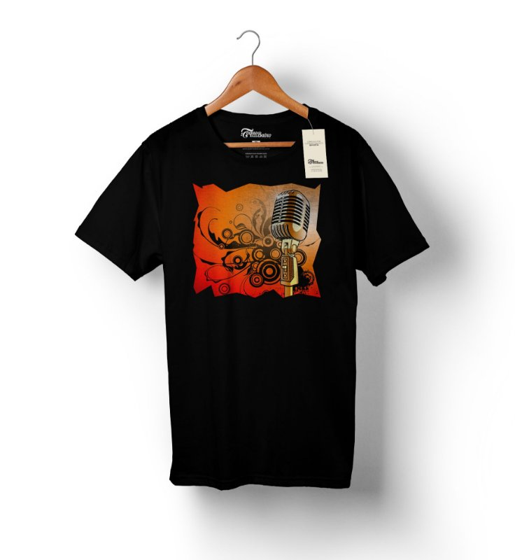 Camiseta – Vocalista 1 – Preta