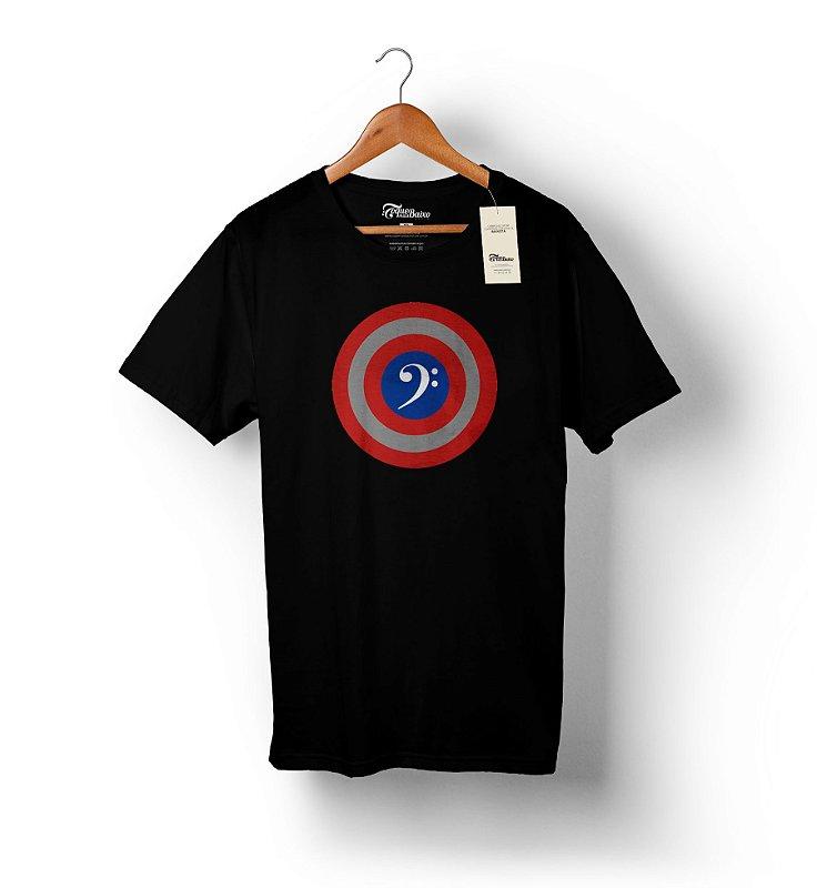 Camiseta – Capitão América – Preta