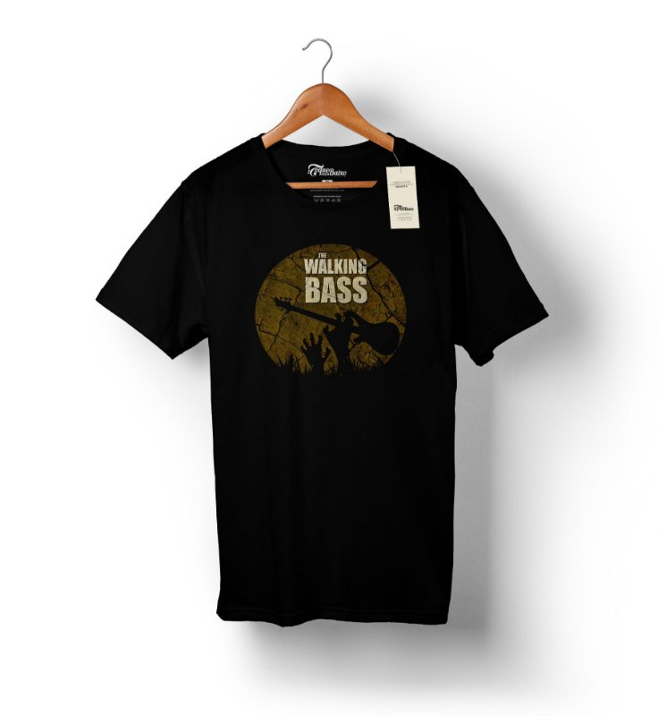 Camiseta – Walking Bass - Preta