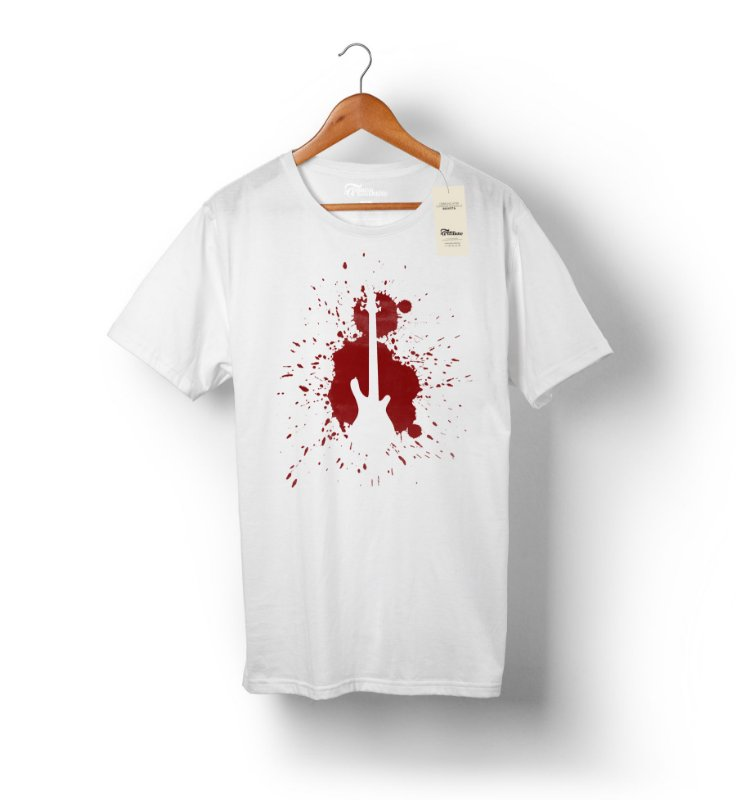 Camiseta – Blood Bass - Branca