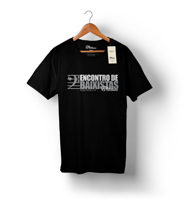 Camiseta Encontro de Baixistas - Brasília