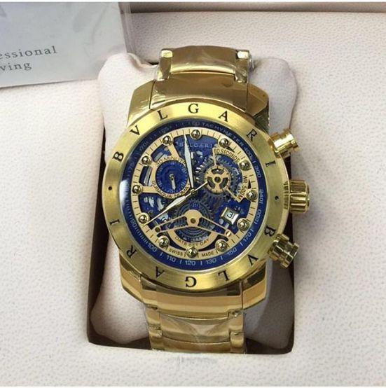 4f80984948b Relógio Bvlgari Esqueleto Suiço Banhado A Ouro - Right Style