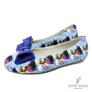 e8455e0c3b Sapatilha Infantil Frozen azul - www.sofhishoes.com.br