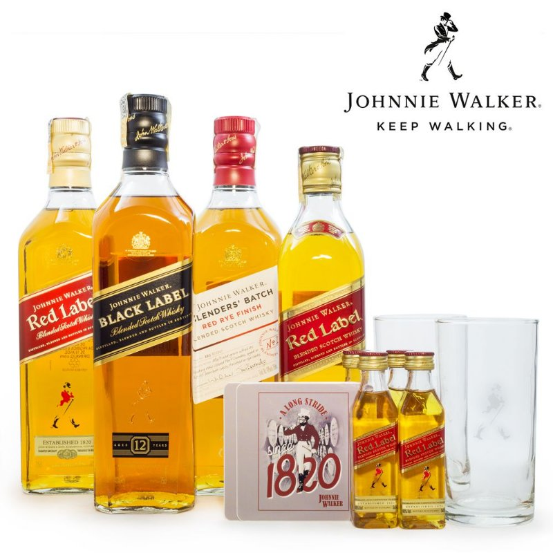 Combo Johnnie Walker Blended Scotch Whisky 750ml