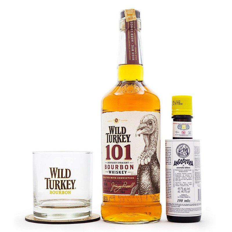 Kit Cocktail Old Fashioned - Wild Turkey Bourbon 101 + Angostura Bitter