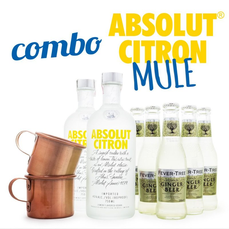 Combo Absolut Citron Mule Cocktail