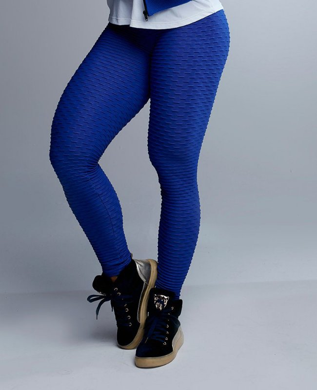 Calça Legging Wave Azul Let´s Gym