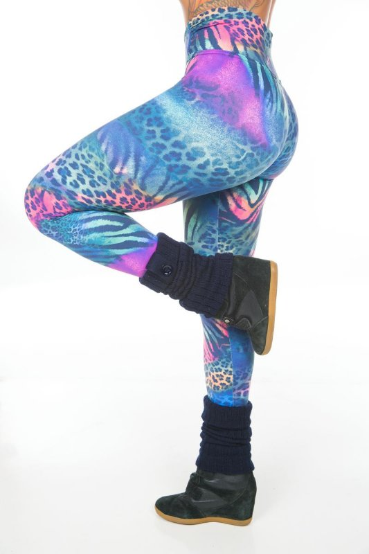 Calça Legging Animal Print Garota Fit