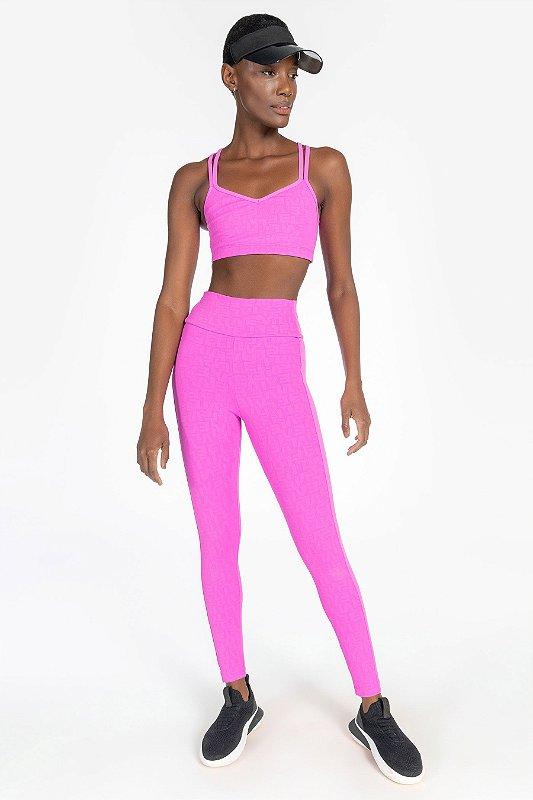 Calça Legging LIVE! Effect Cyber Pink