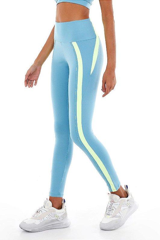 Legging Alto Giro Blackout Bio Azul Waters