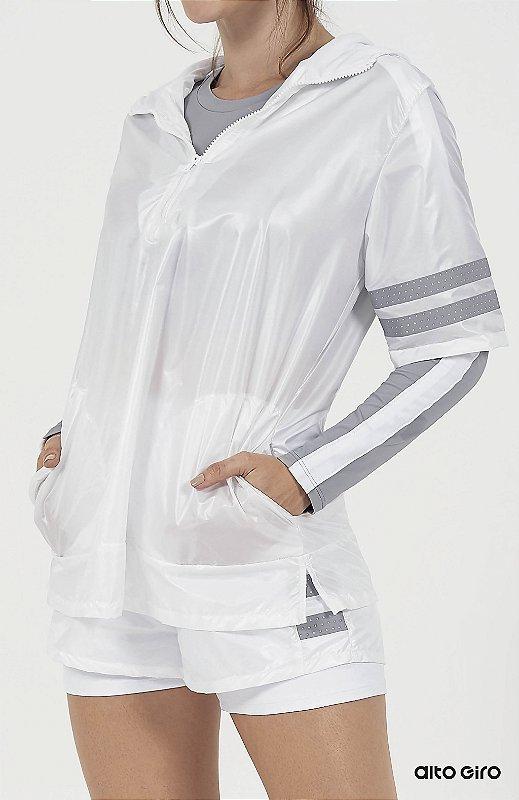 Blusa Alto Giro Plastik Capuz