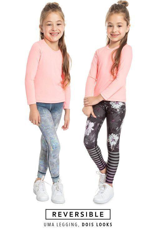 Calça Legging LIVE! Jeans Reversible Lux Kids