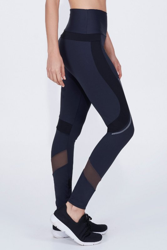 Legging Alto Giro Athletic Refletivo
