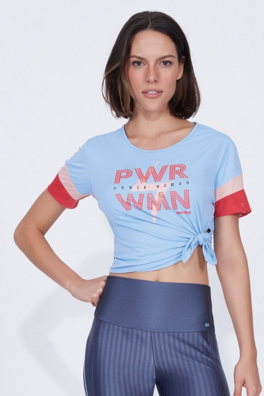 T-shirt Alto Giro skit fit power woman