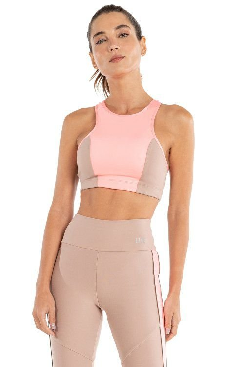 Top LIVE! Halter Color Block