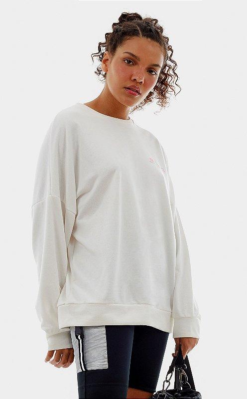 Blusa Alto Giro Moletom Oversized
