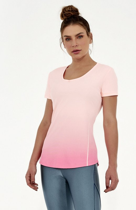 T-Shirt Alto Giro Skin Fit Degradê