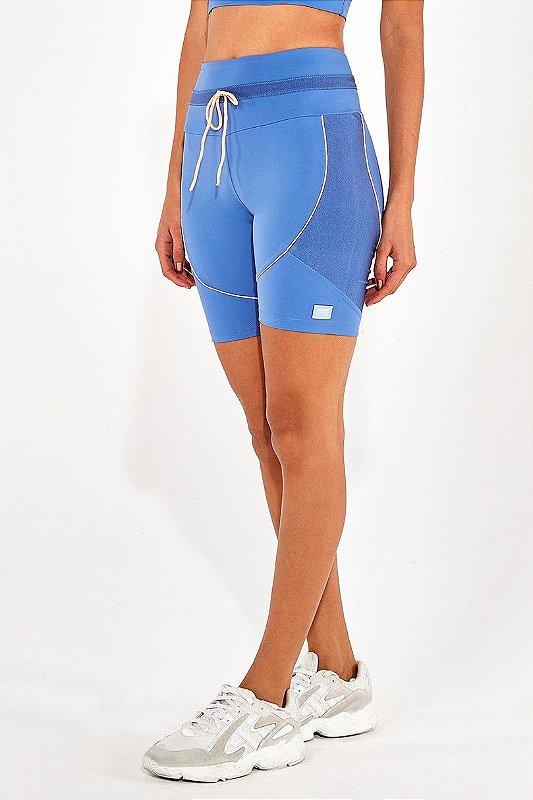 Bermuda Alto Giro Thassia Naves Bodytex Azul Moolinght