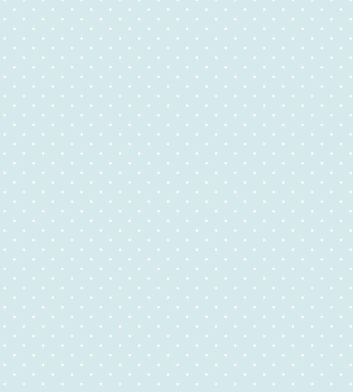 Papel De Parede Poa Fundo Azul Bebe E Bolinha Branca