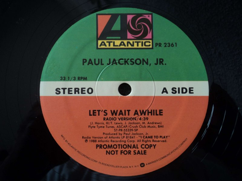 PAUL JACKSON JR  - LET'S WAIT A WHILE ( VERSÃO INSTRUMENTAL DA LENTA DA  JANET JACKSON )