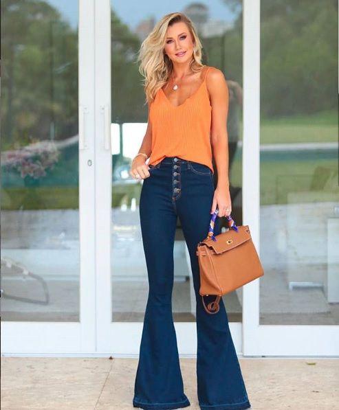 9fbb491c2 Calça Flare Jeans com Fio de Moletom - Bella Donna Boutique RC