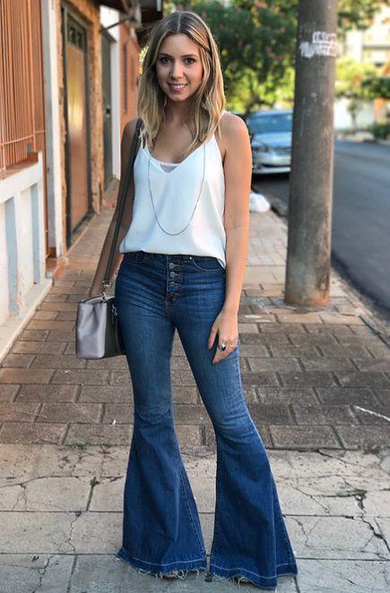6cd8cb734 Calça Jeans Mega Flare Escura - Bella Donna Boutique RC