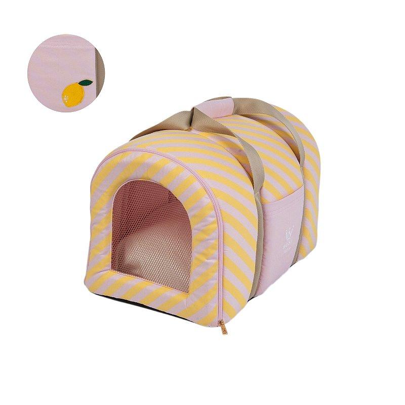 Bolsa De Transporte Woof Pet : Bolsa transporte pet woof classic rosa lim?o sici picnic